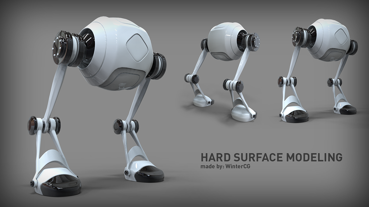 3ds Max Hard Surface Modeling On Behance Hard Surface Modeling Surface Modeling 3ds Max