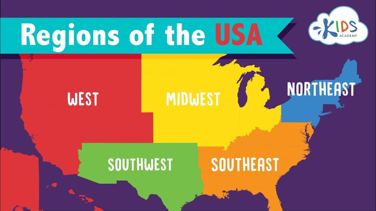 Regions Of The Us Map For Kids Regions of the USA | Geography for Kids | Kids Academy #geography
