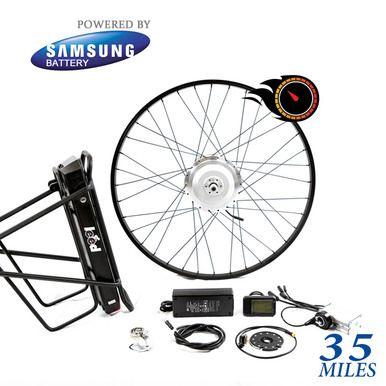 13 Ah Samsung 40k Electric Bike Kit 36 Volts 500 Watts 500 Series 500 Watt E Bike Kits Electric Bike Kits E Bike Kit Fast Electric Bike