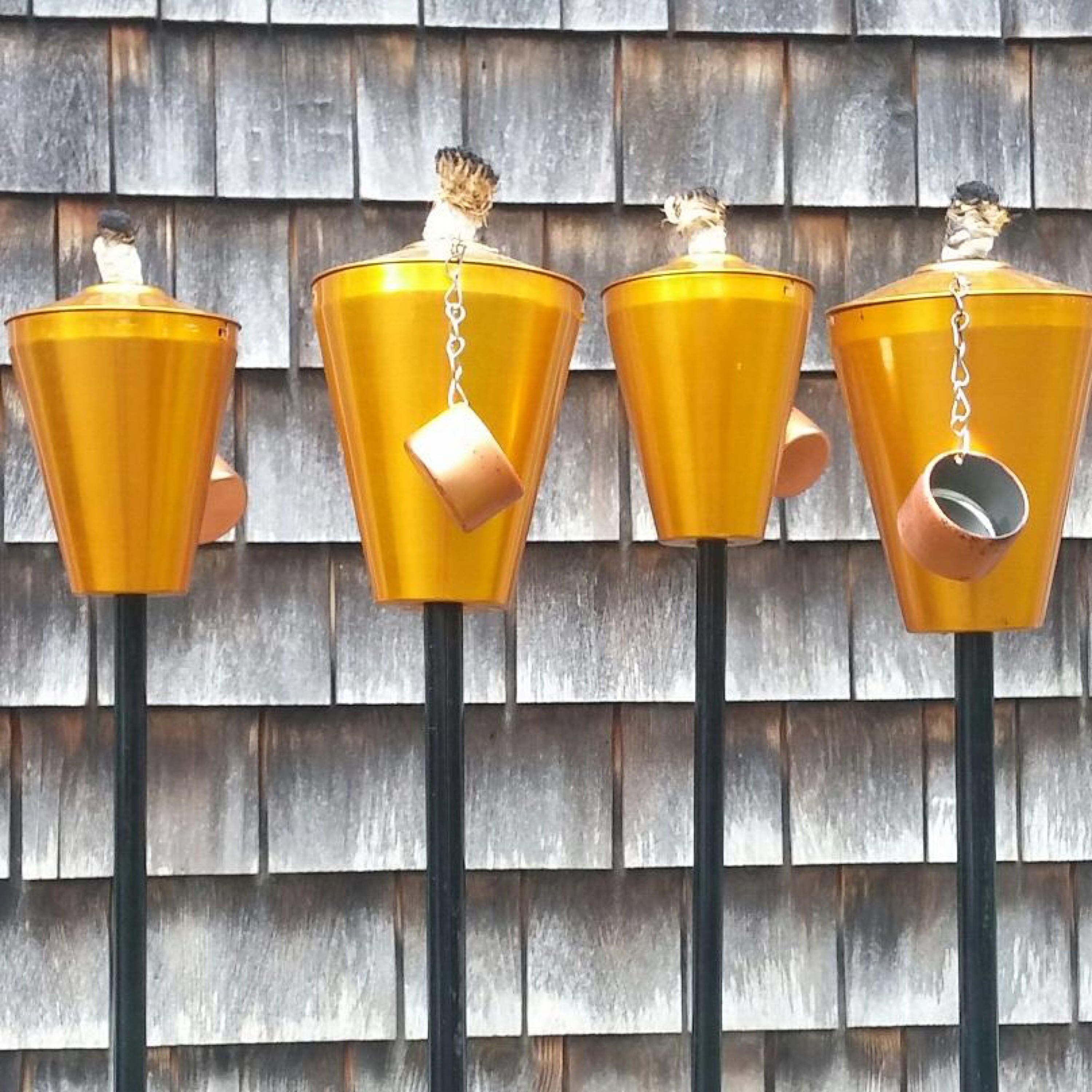 Vintage Tiki Torch Patio 2 Pairs Available Party Lanterns Mid Century Tonga Company Aluminum By Capecodmodern