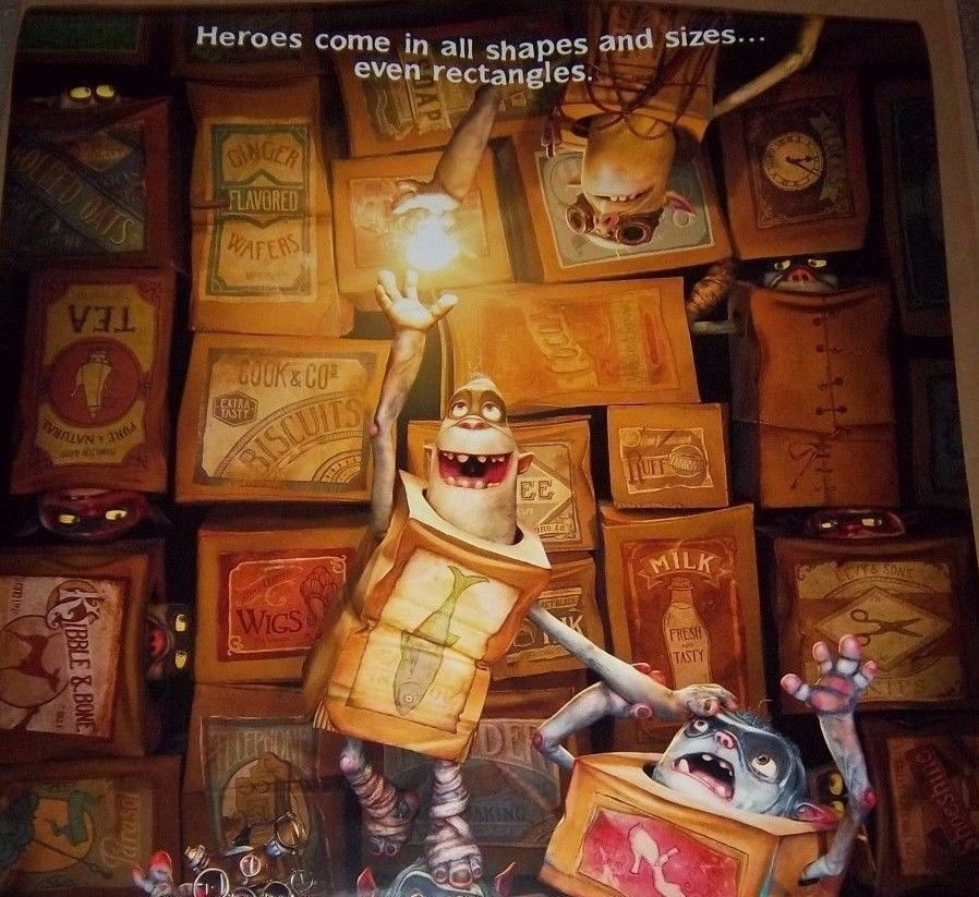 """The BOXTROLLS Original Two Sided Movie Poster, 27""""x 40"""" Size, Fast Shipping Incl"""