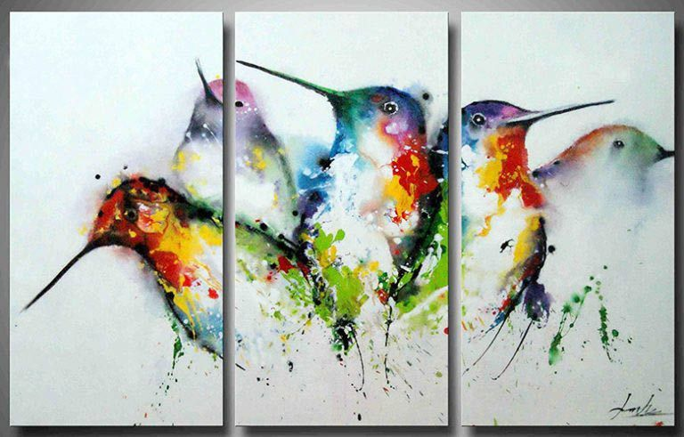 25 Easy Painting Ideas For Beginners On Canvas For Super Fun Diy Home Decoration Craft Mart Bird Paintings On Canvas Multi Canvas Painting Birds Painting