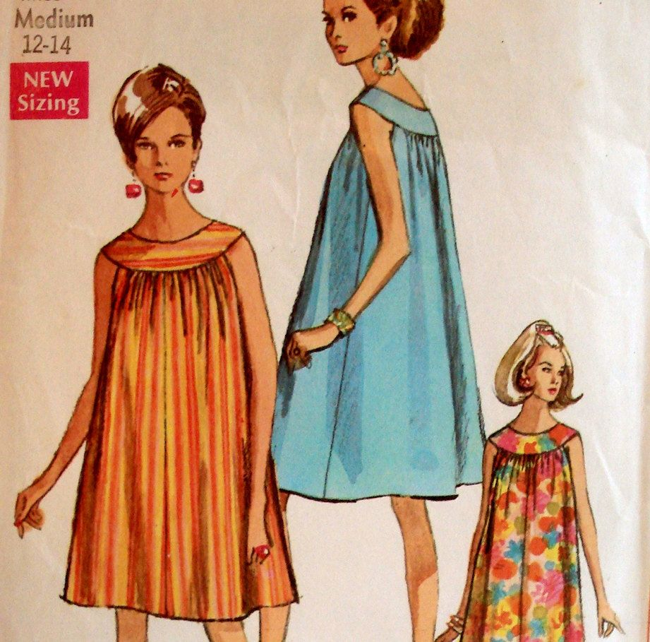 Different neckline for tent dress vintage 60s simplicity different neckline for tent dress vintage 60s simplicity pattern ombrellifo Gallery