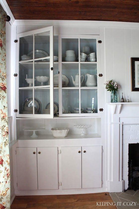 Keeping It Cozy: In The Dining Room Hutch