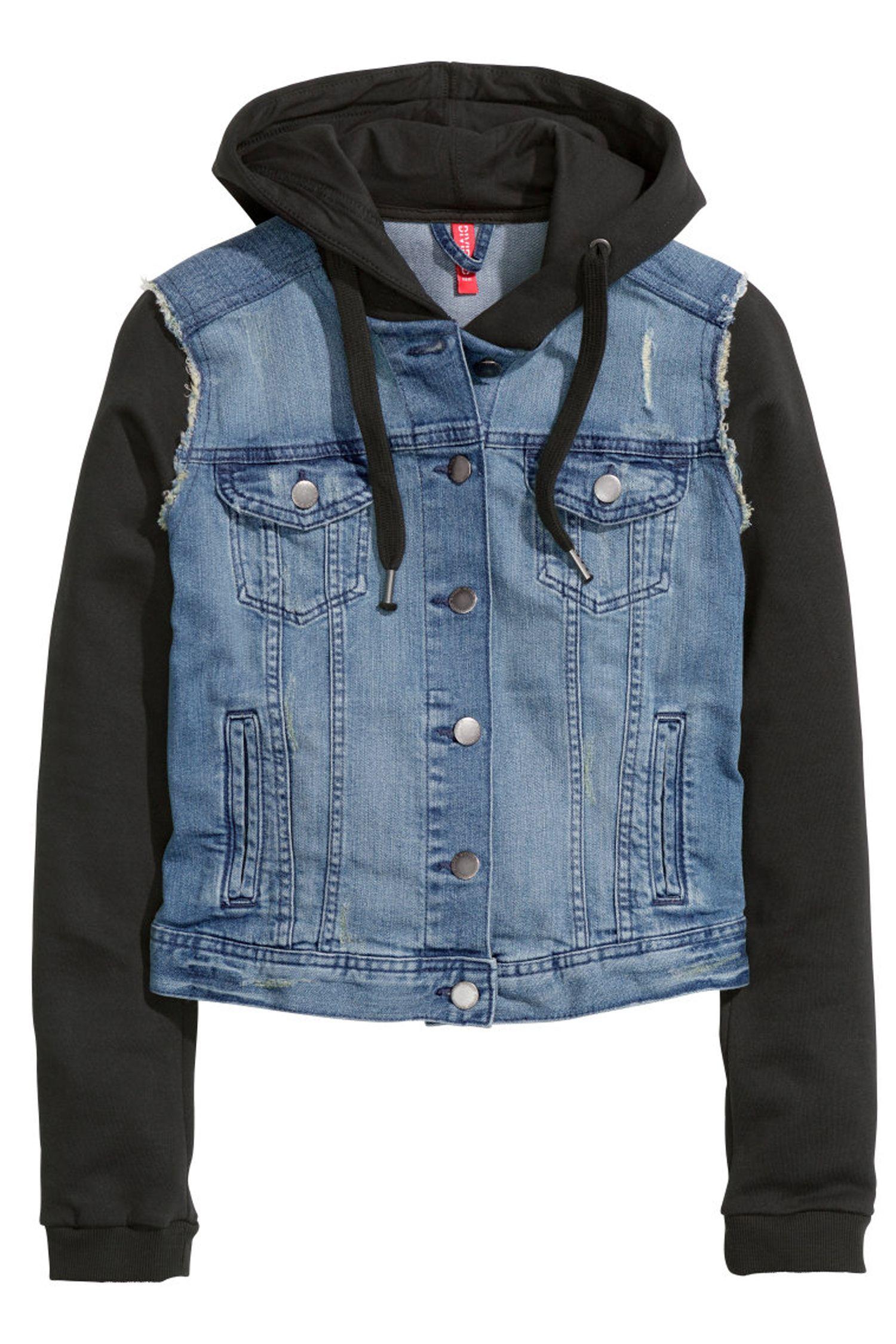 25 Seriously Cute Game Day Essentials H M Denim Jacket Denim Jacket Hooded Denim Jacket [ 2250 x 1500 Pixel ]