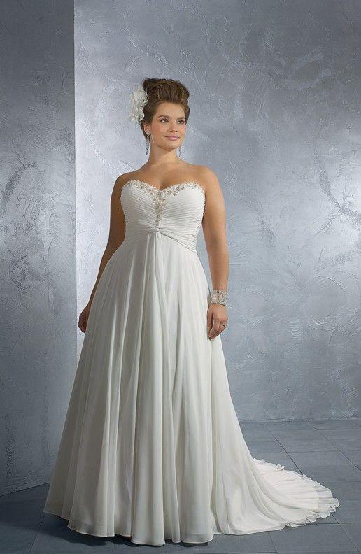 7f4ae8c7e3c8 Plus Size Wedding Dresses | Empire Waist Plus Size Wedding Gowns - Darius  Cordell Fashion Ltd