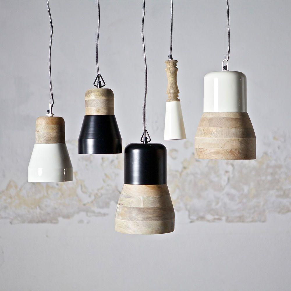 Hngelampen Deckenlampe Esszimmerlampe Leuchte Lampe Holz Shabby weiss schwarz  EsszimmerKche