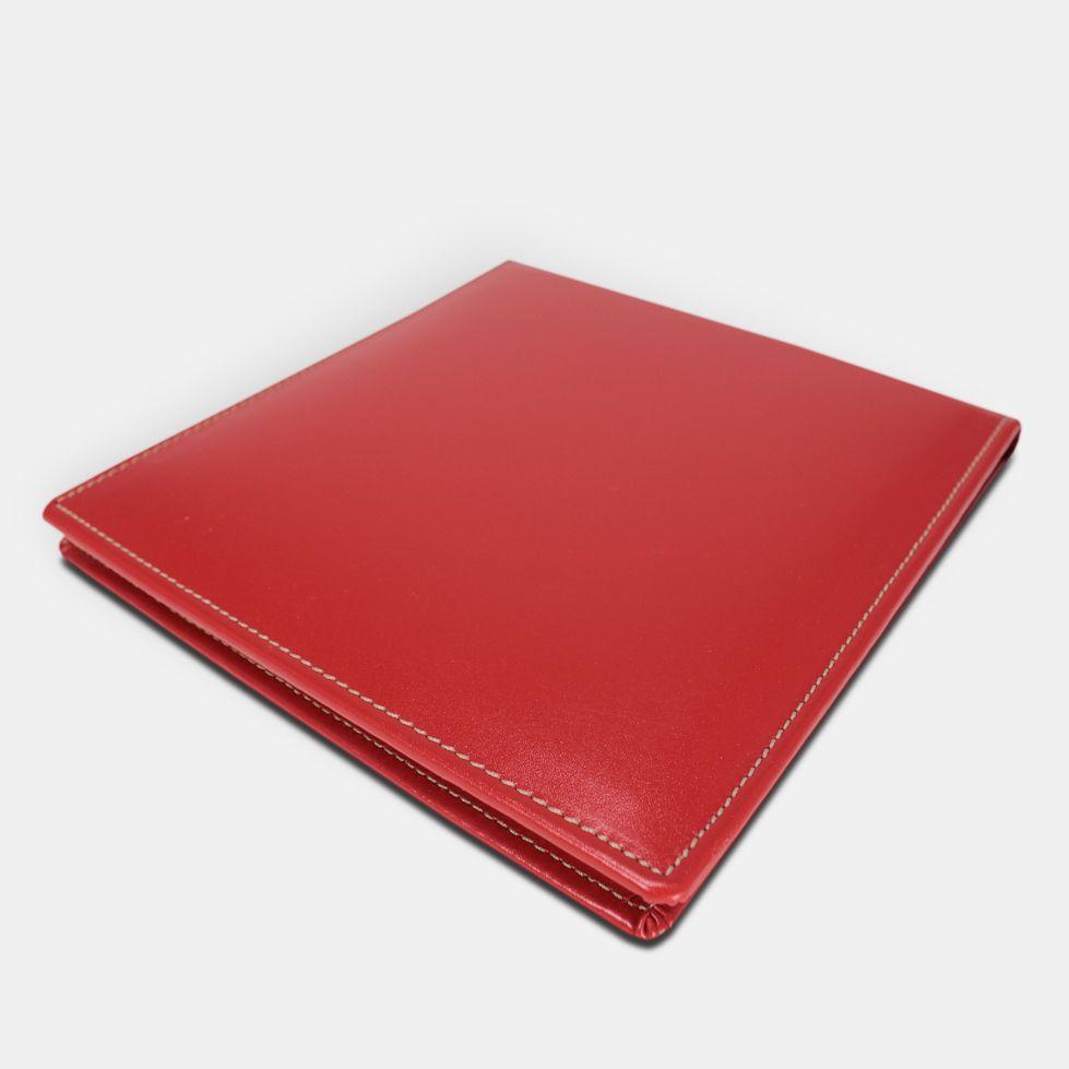 slim red leather dvd case by pielfort luxury luxury dvd cases