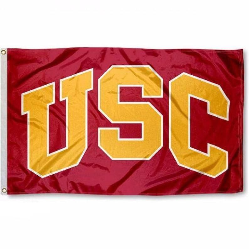 University Of Southern California Usc Flag Etsy In 2020 College Flags Usc California Logo