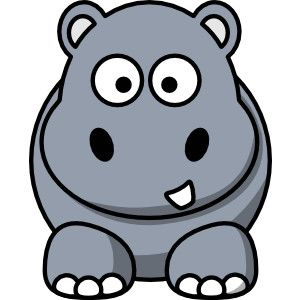 hippo clipart 1 print clip art picture clipartme jpeg 300 300 rh pinterest co uk hippo clipart images hippo clip art black and white