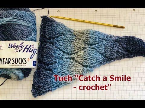 Photo of Schal Catch a Smile Häkeln Sie Teil 1 einfach mit Woolly Hugs