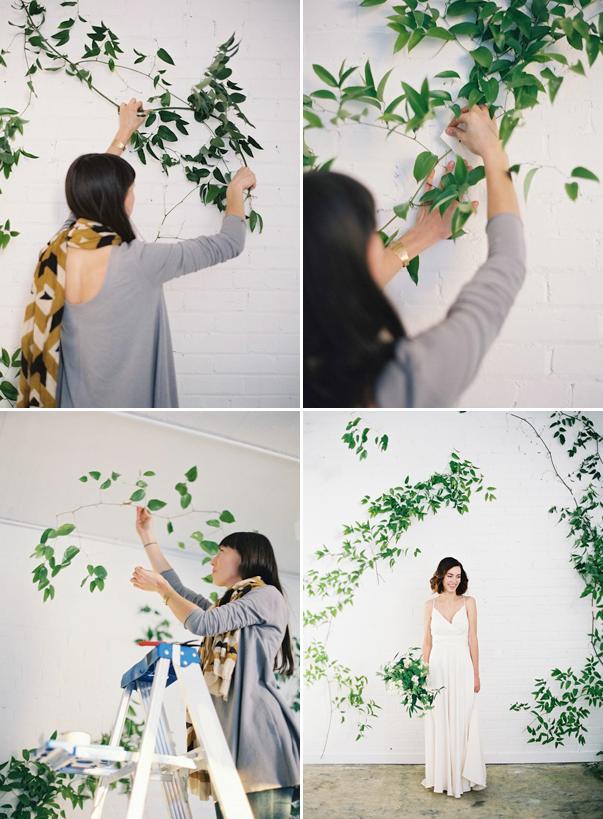 DIY Wild Vine Arch Wedding Ideas Diy wedding backdrop
