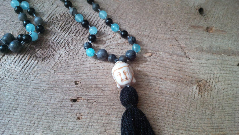 108 Mala bead necklace, Mala, Yoga jewelry, Prayer necklace, Meditation necklace, Beaded necklace by SkullzNBeadz on Etsy