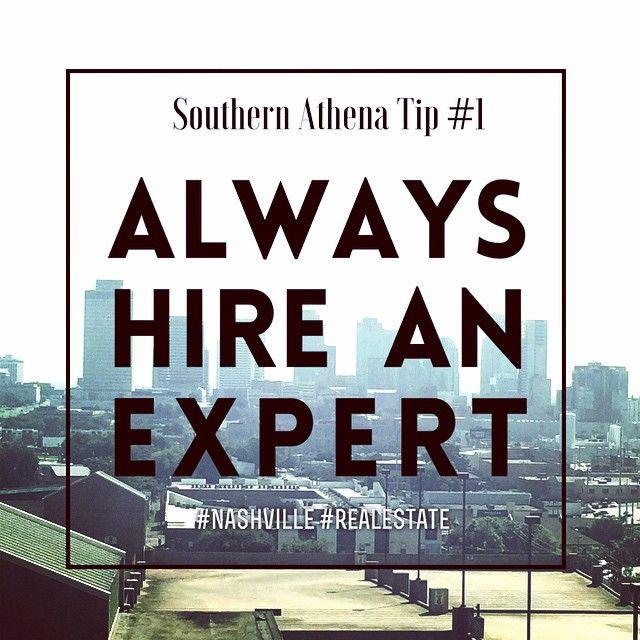 Southern Athena Tip #1 - Always Hire an Expert - #realestatetips #expertadvice #CRE #Architecture #investing #Nashville #southernathenatips