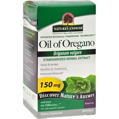 Nature S Answer Oil Of Oregano 90 Softgels Oregano Oil Benefits Oregano Oil Herbs