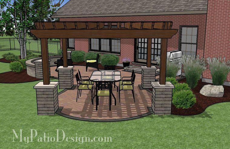 pergola patio design patio designs and ideas i like the stones around the bottom - Patio Pergola Ideas