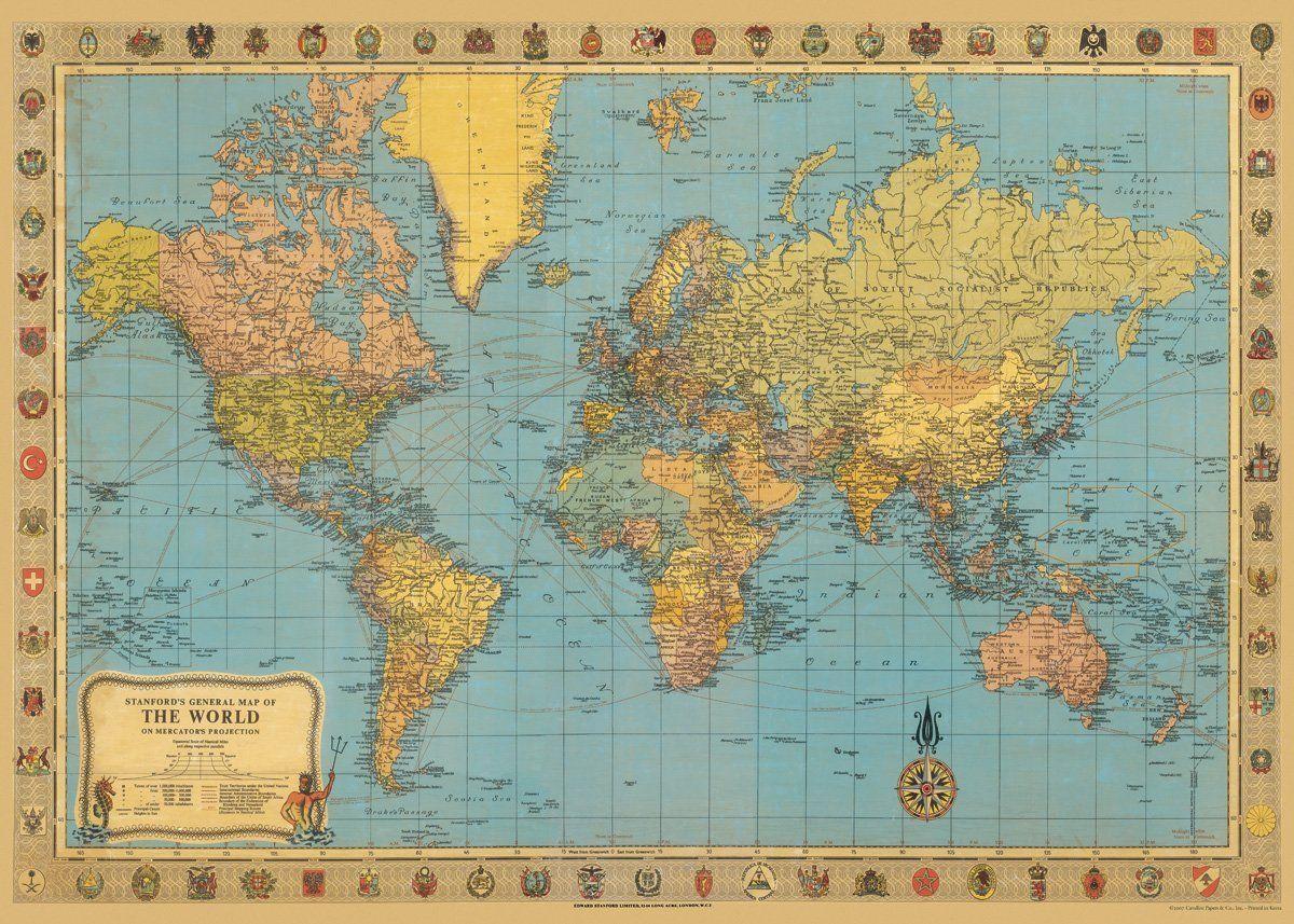 Amazon cavallini co world map decorative decoupage poster amazon cavallini co world map decorative decoupage poster wrapping paper sheet gumiabroncs Choice Image