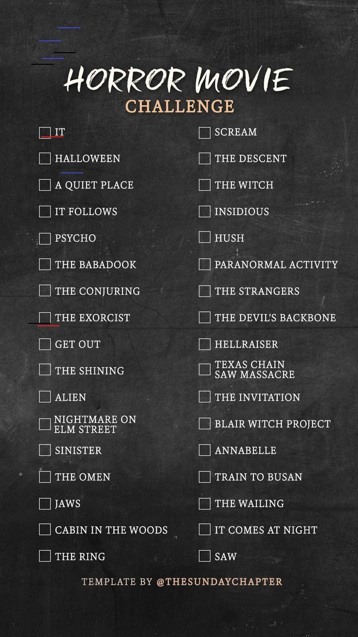 Imgur in 2020 Horror movies list, Movie to watch list