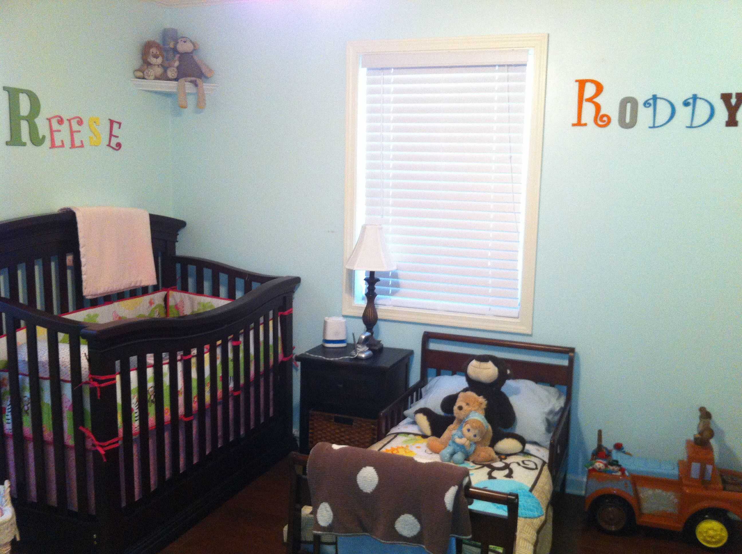 Baby Boy And Girl Room Ideas Toddler boy and baby girl shared room.