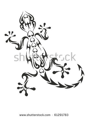 image result for line drawing gecko