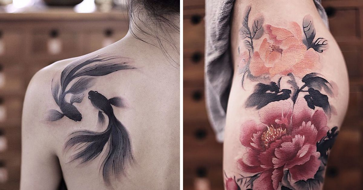 These Watercolor Tattoos By Chen Jie Will Make You Wish You Had