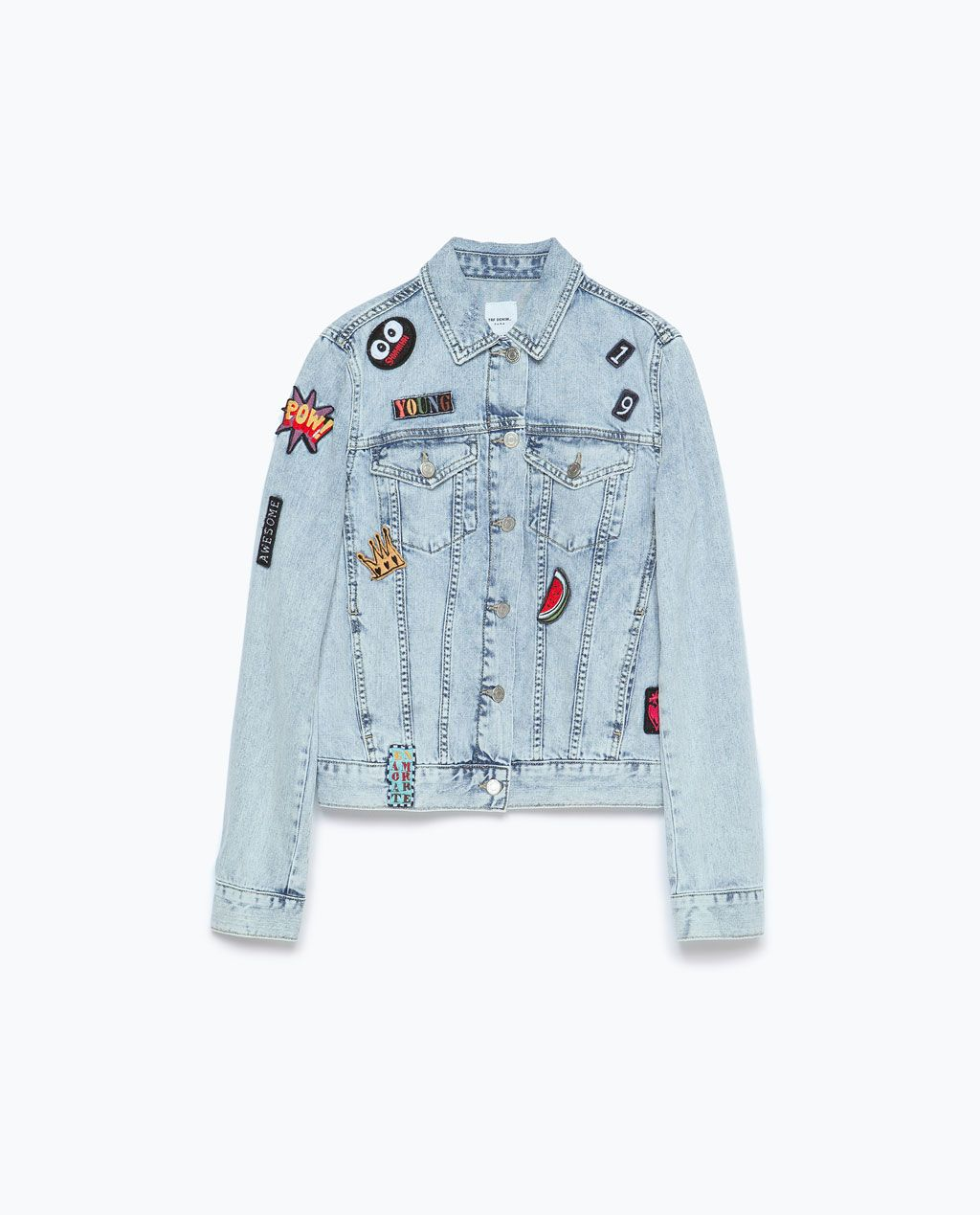 7e3b3fc0 DENIM JACKET WITH PATCHES-Outerwear-TRF | ZARA United States | Le ...