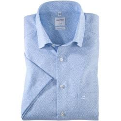 Photo of Olymp Luxor Kurzarmhemd, comfort fit, Under-Button-down, Bleu, 42 Olymp