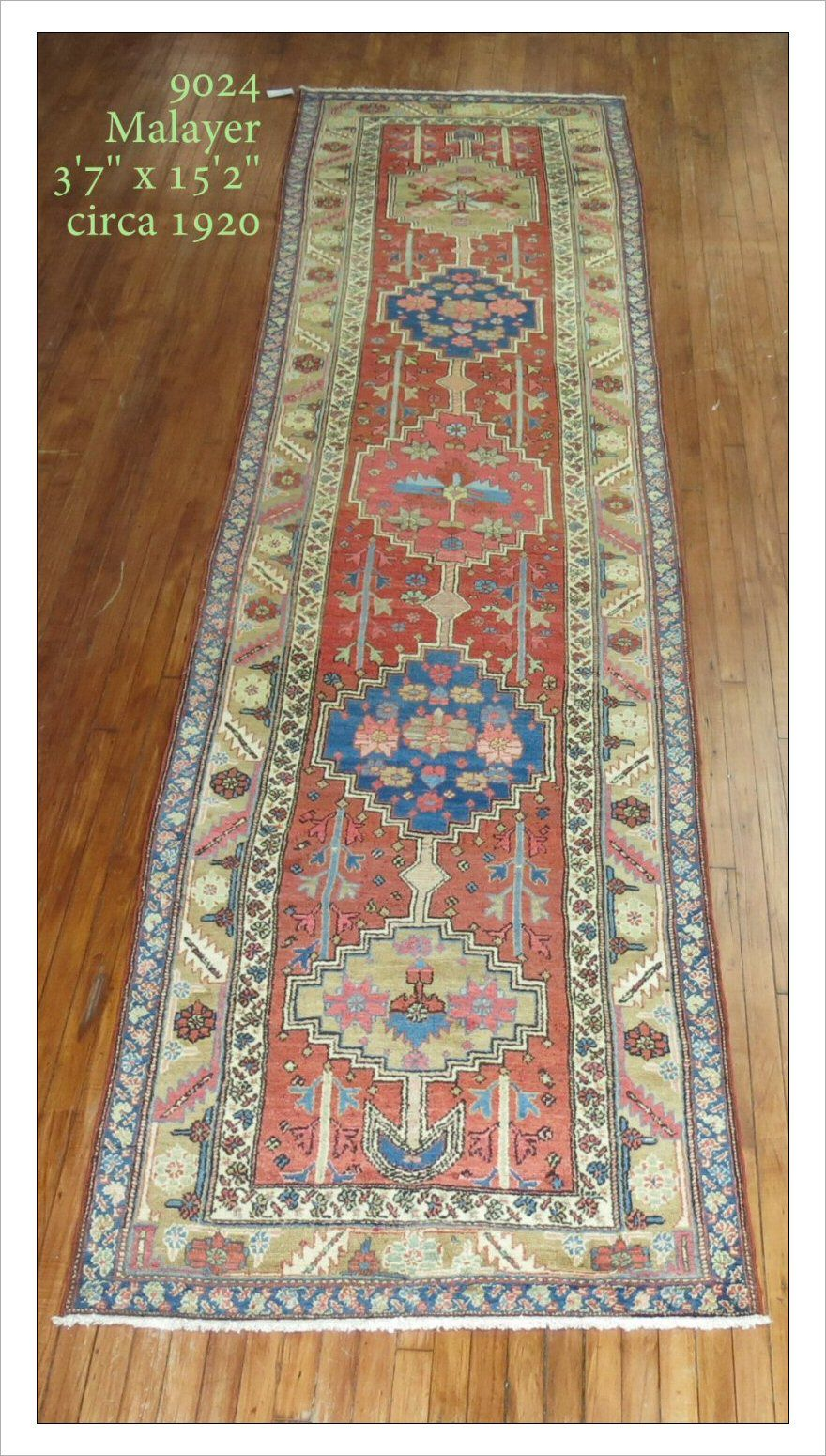 Malayer Rug Number 9024 Size 3 7 X 15 2
