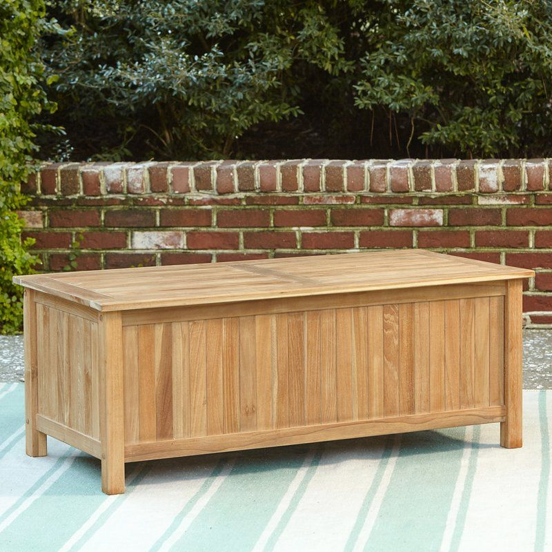 Summerton Teak Deck Box Outdoor Deck Box Rustic Furniture