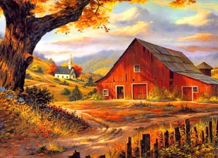 imgs for gt rustic barns paintings farm paintings barn on Rustic Country Paintings id=52777