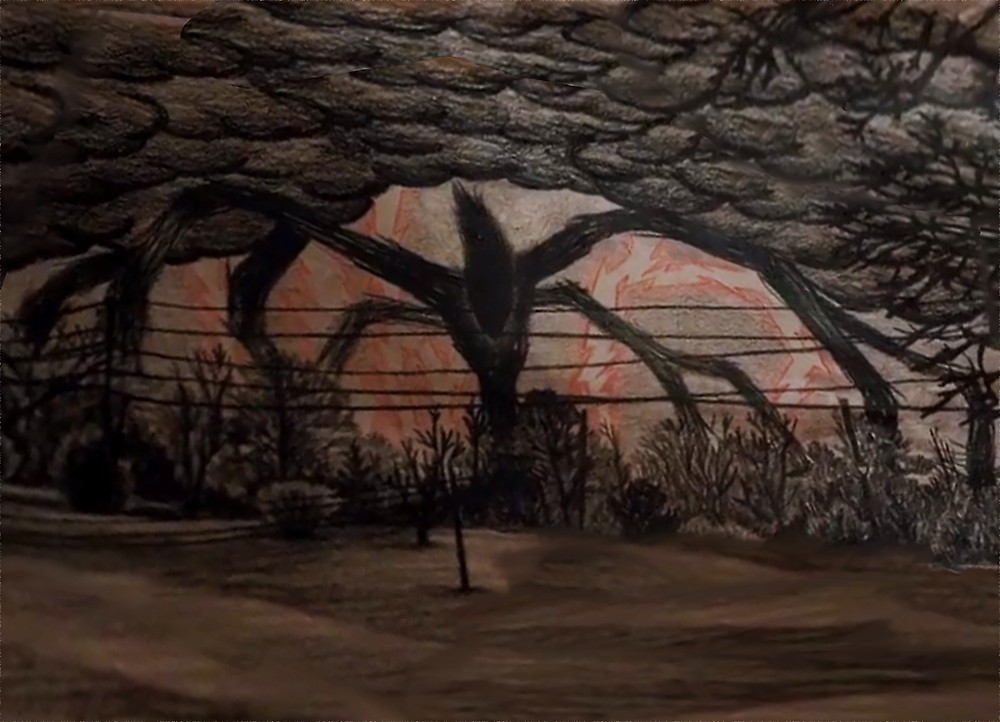 Stranger Things Will S Drawing Of The Shadow Monster Google Search Shadow Monster Stranger Things Monster Monster Drawing