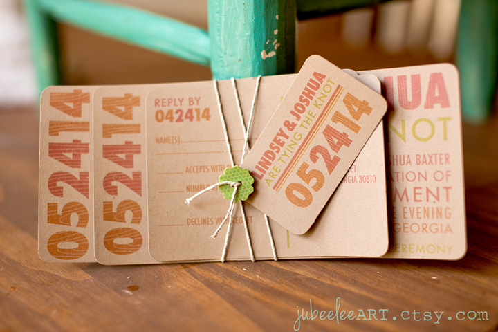 Textured Paper For Wedding Invitations: Rustic Wood Grain Textured Font On A Modern Stacked Type