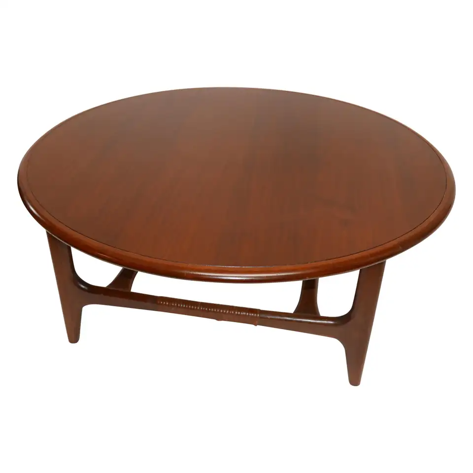 For Sale On 1stdibs Fantastic Mid Century Modern Round Coffee Table By Lane Altavista Virginia This Tab Lane Furniture Round Cocktail Tables Coffee Table [ 960 x 960 Pixel ]