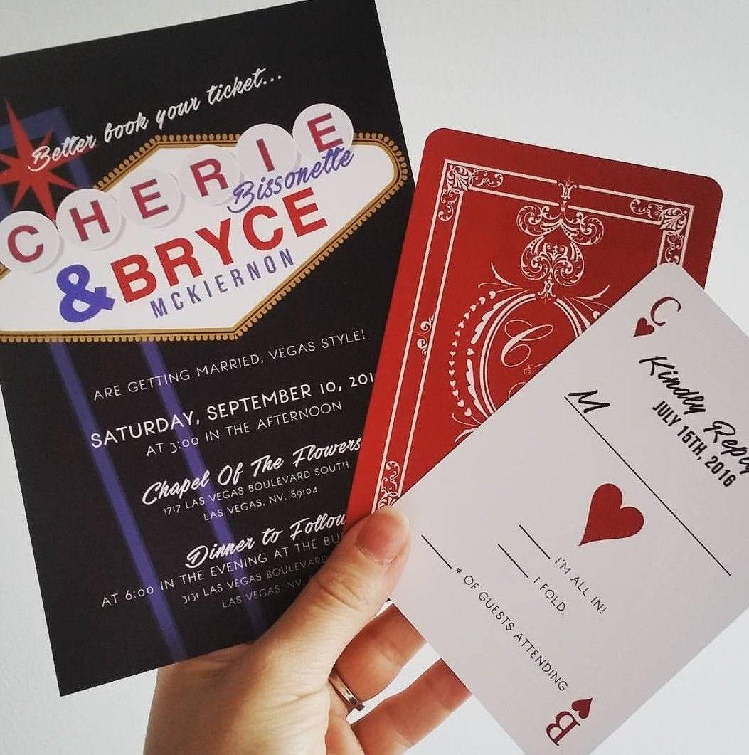 Fine Vegas Themed Wedding Invitations Motif - Invitations and ...