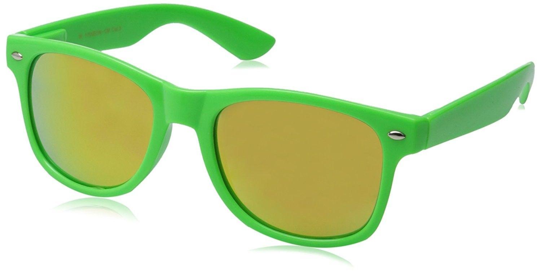 c4198793c55 Hipster Fashion Flash Color Mirror Lens Horn Rimmed Style Sunglasses -  Green - CS11LRXBJG5-Men s Sunglasses