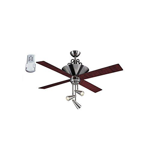 Harbor Breeze Galileo 52 In Brushed Chrome Downrod Mount Ceiling Fan With Light Kit And Remote With Images Ceiling Fan With Light Ceiling Fan Ceiling Fan With Remote