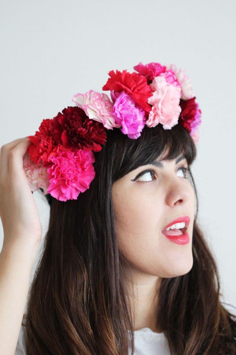 Carnations 4 Ways Floral Crown 6 Diy Pinterest Floral Crown