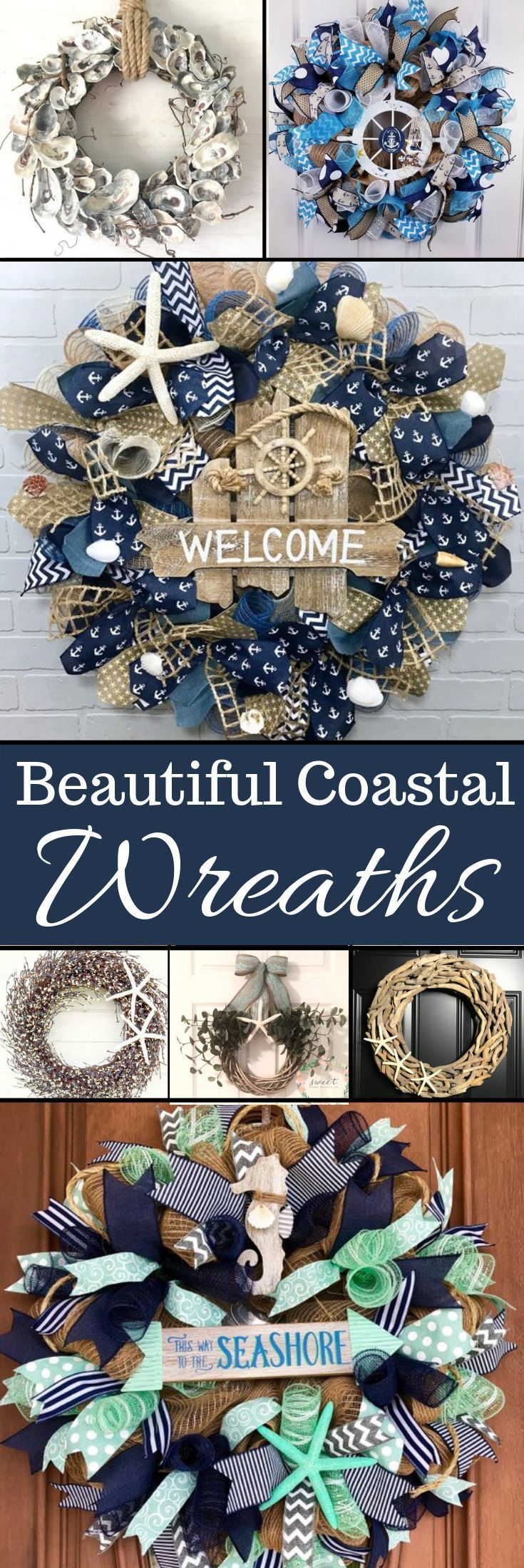 Photo of Coastal Wreaths for my Beach House Front Door – My Cozy Colorado