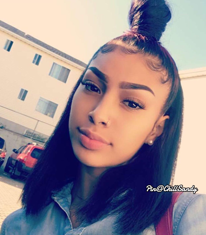 Pinterest Chantieex Instagram Chantiee T Snapchat Chashleigh Baddie Hairstyles Natural Hair Styles Straight Hairstyles