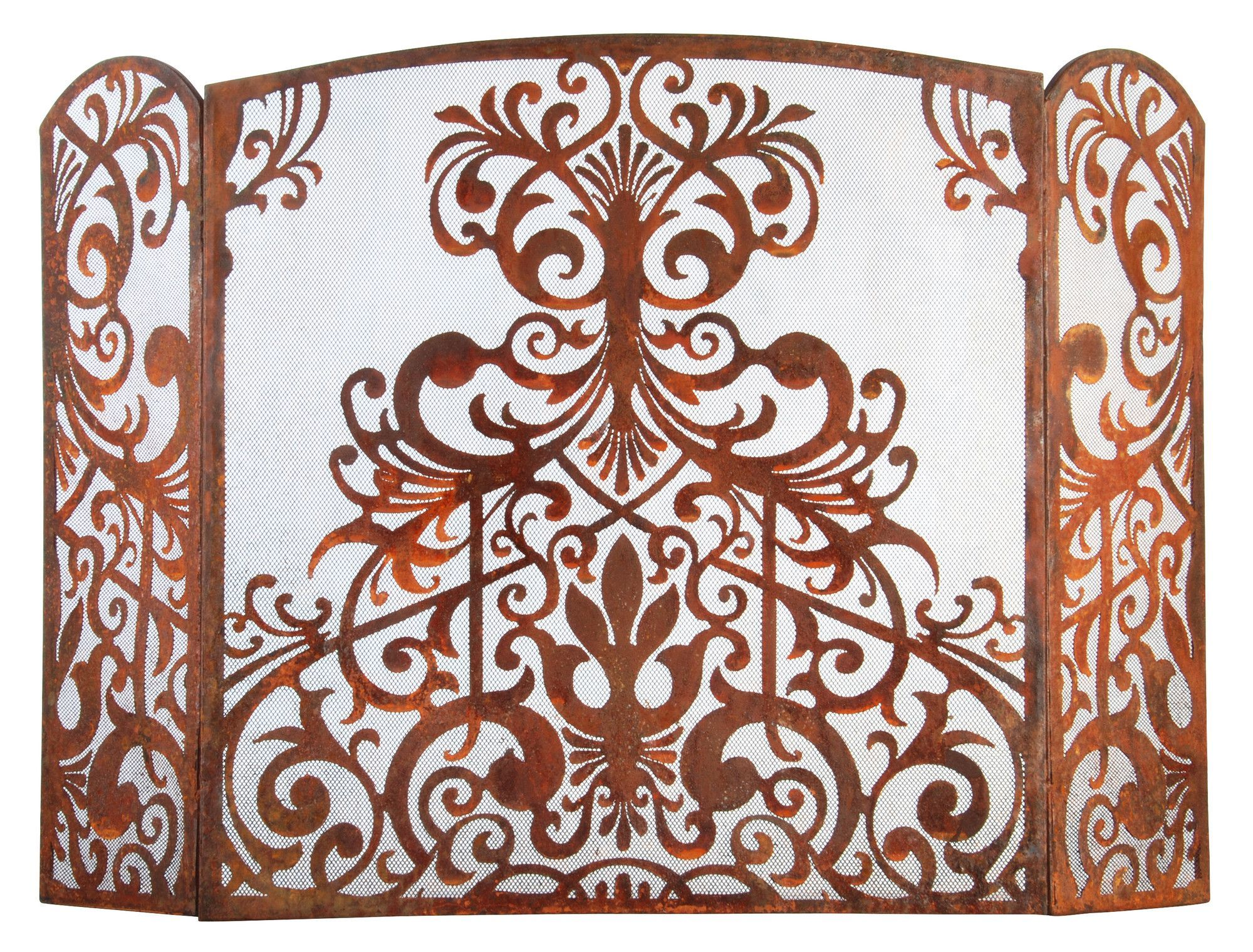 3 panel metal fireplace screen products pinterest fireplace