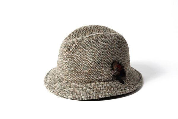Failsworth Harris Tweed Wool Drop Brim Elgin Hat - Brown Failsworth Hats  Ltd has been manufacturing ladies hats and men s hats since 1903 and has two f54274f262e1