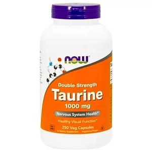 Now Foods التورين قوة مضاعفة 1000 ملجم 250 كبسولة نباتية Now Foods Taurine Cell Membrane