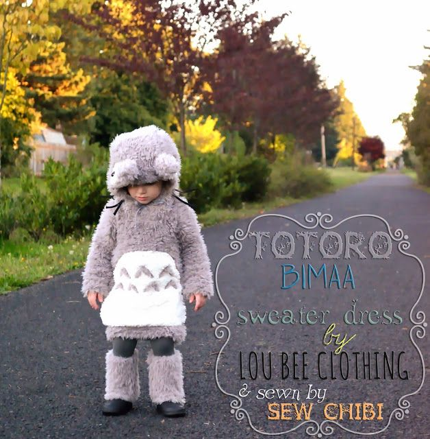sew chibi: A little Halloween Bimaa Pattern Love.  A Totoro Sweater dress from the movie My Neighbor Totoro.  Chibi cosplay!!!!