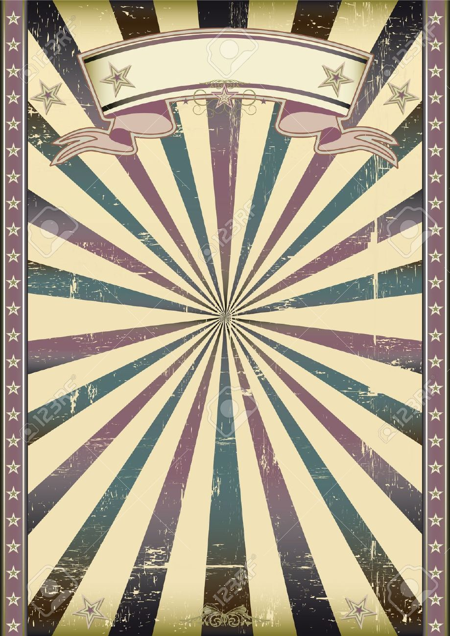 Vintage Circus Poster Background Circus Poster Stock Ph...