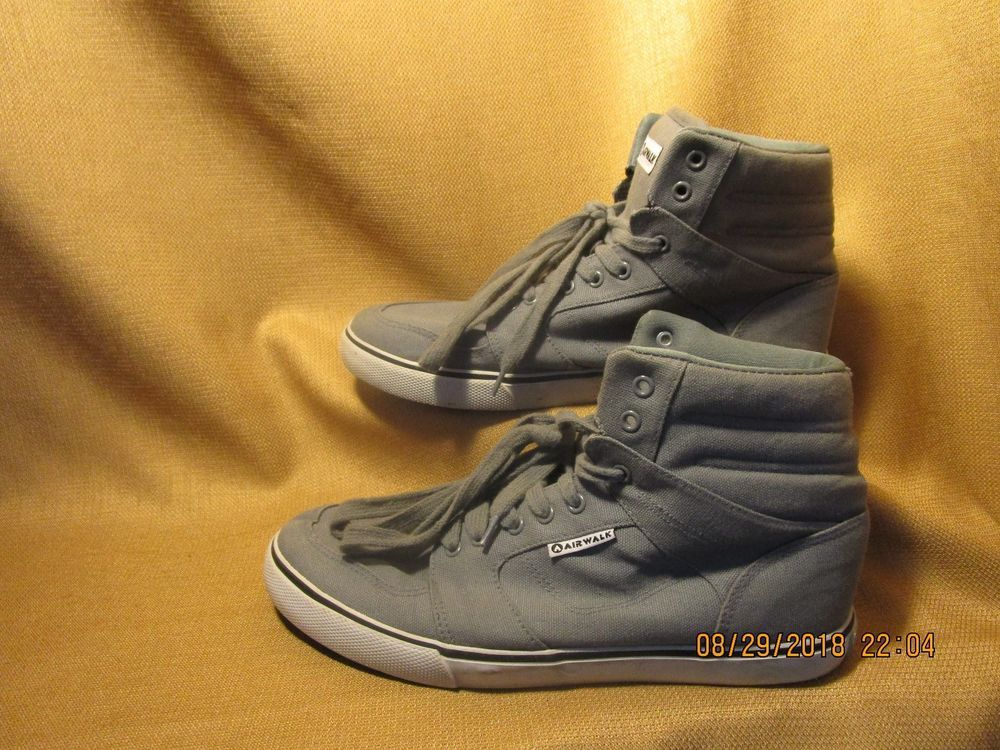 Mens Air Walk High Ankle sneakers Gray Black White Size 10  fashion   clothing  shoes  accessories  mensshoes  casualshoes (ebay link) 4be0d1841