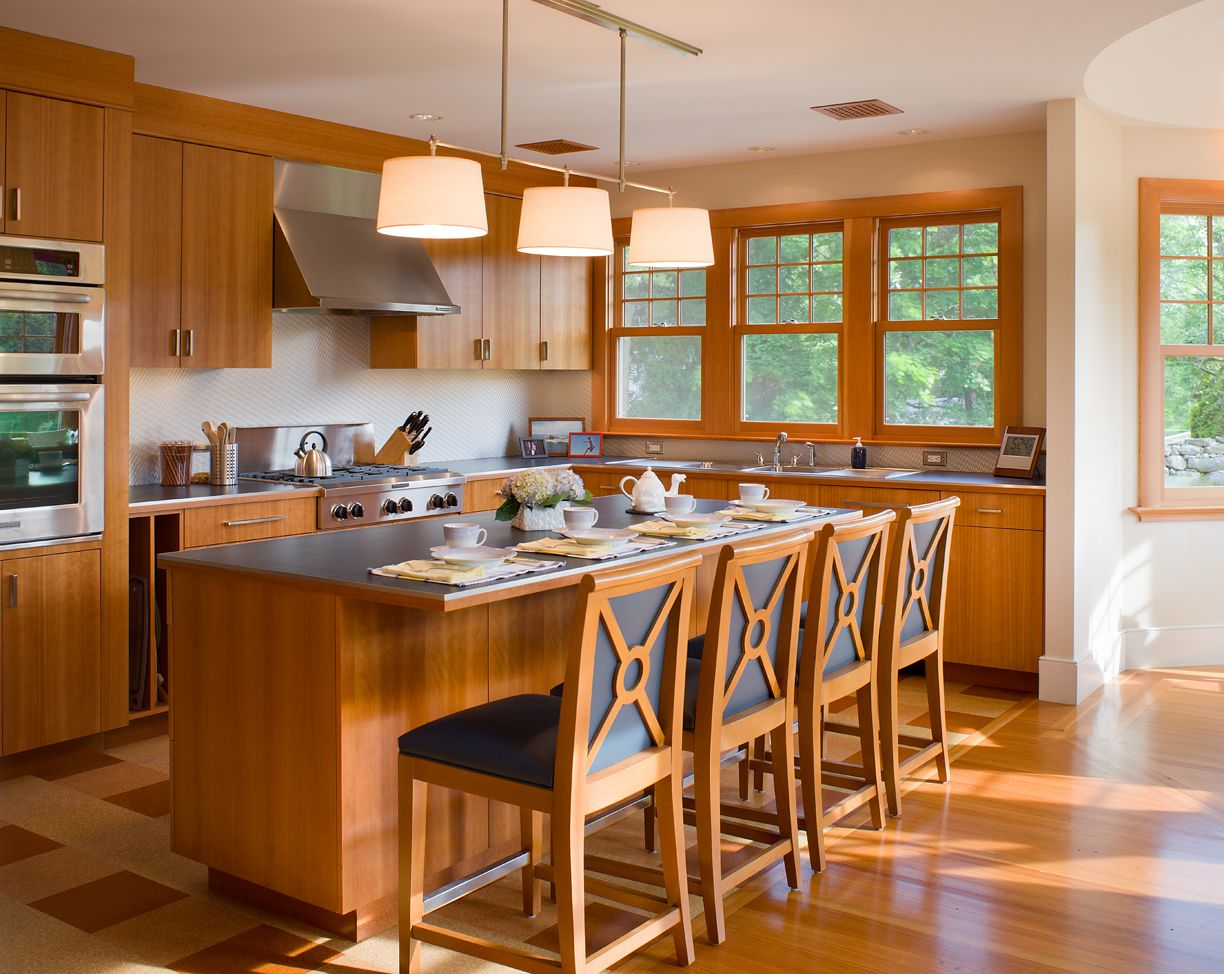Swell Cherry Cabinets Cork Floors Blue Laminate Countertops And Download Free Architecture Designs Grimeyleaguecom