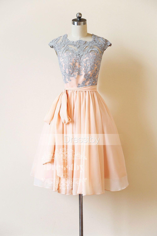 Cute lace short prom dress lace bridesmaid dress pinterest lace