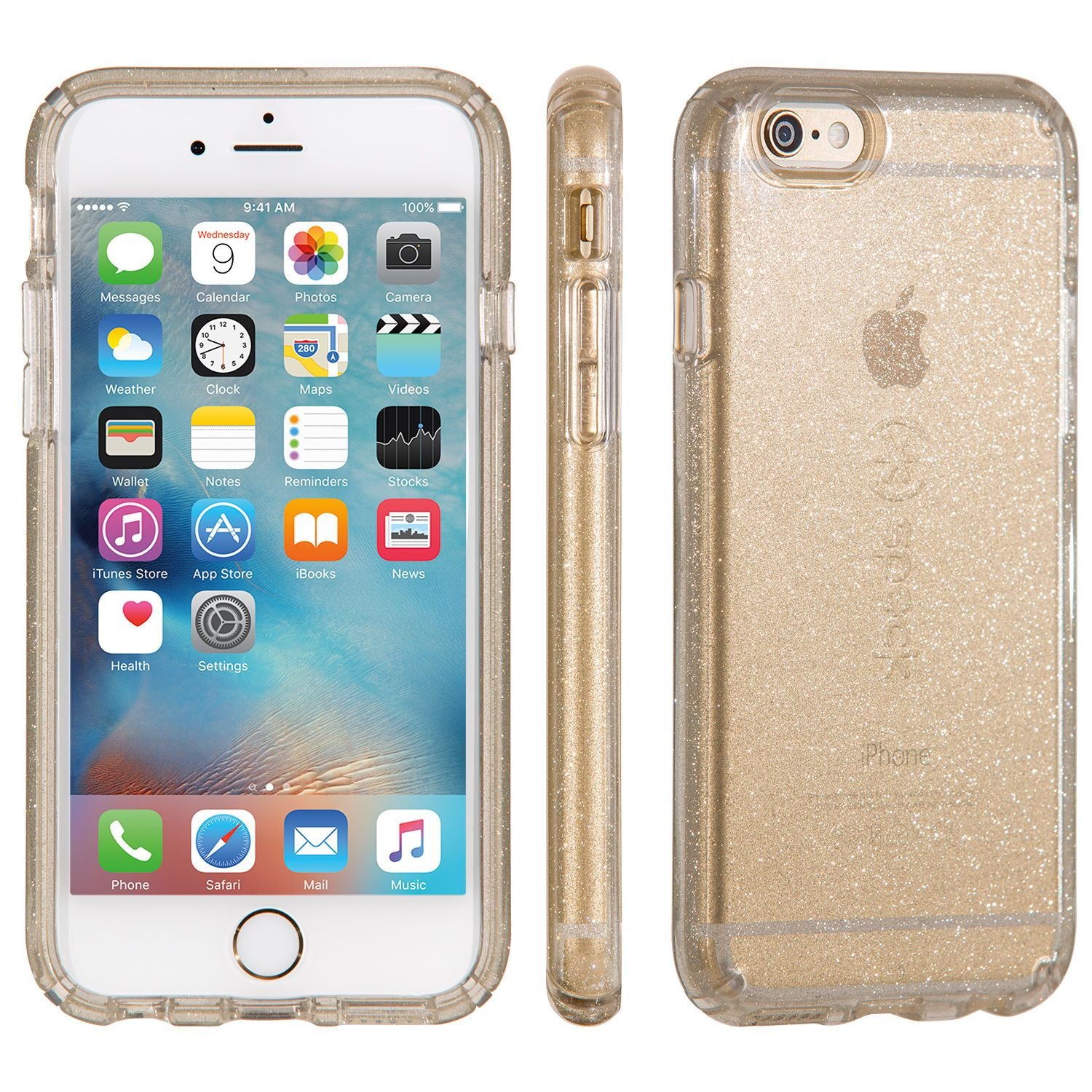 los angeles f3fe7 0aeda CandyShell Clear with Glitter iPhone 6s & iPhone 6 Cases | I Want ...