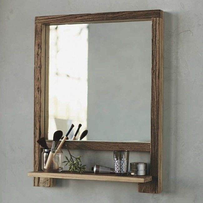 Design Sleuth 5 Bathroom Mirrors With Shelves Remodelista Wood Framed Bathroom Mirrors Bathroom Mirror With Shelf Wood And Metal Shelves
