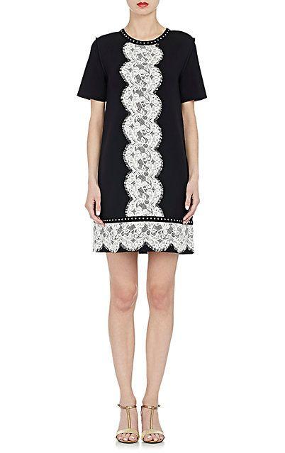Lanvin Lace Embellished Shift Dress Short Barneys